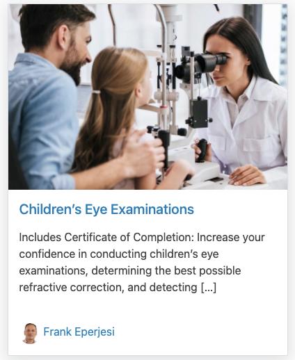 Children's Eye Examinations
