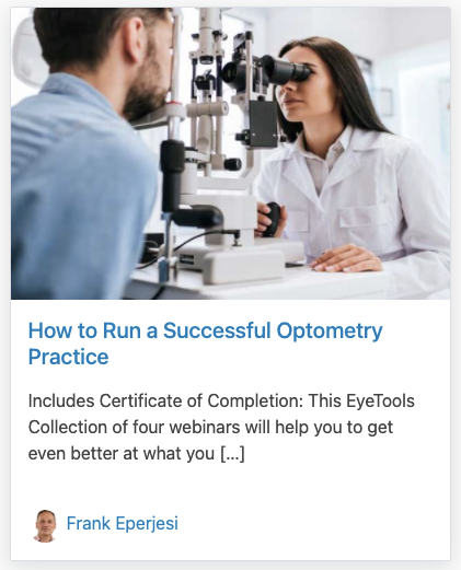 How to Run a Successful Optometry Practice